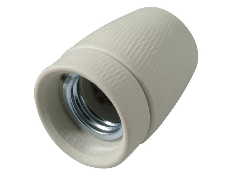 Profile douille E27 porcelaine blanc