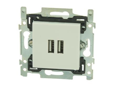 Niko dubbele Smart inbouw USB-lader Intense sterling