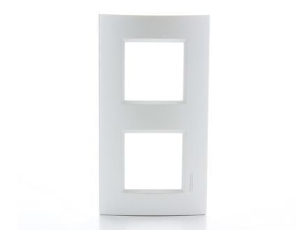Bticino dubbele afdekplaat LivingLight horizontaal zilver
