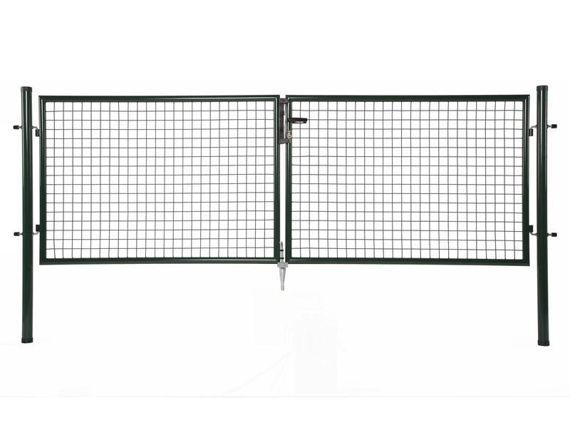 Giardino dubbele poort 300x100 cm groen