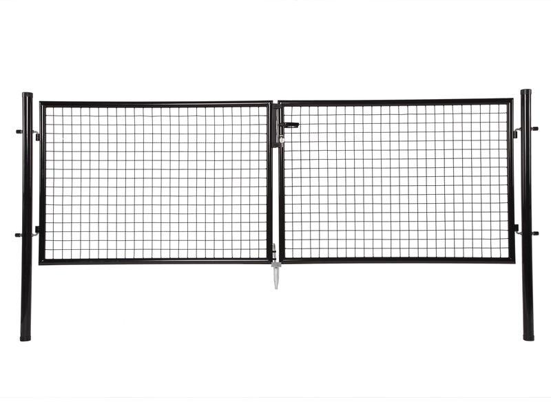 Giardino dubbele poort 300x200 cm zwart