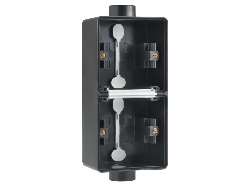 Niko dubbele verticale opbouwdoos 2 enkelvoudige M20-ingangen zwart
