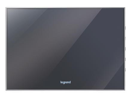 Legrand écran couleur supplémentaire effet miroir 2-fils couleur 7 pouces noir