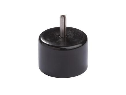 Giardino eindstuk bovenbuis met pin 42mm zwart