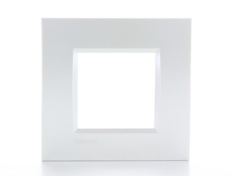 Bticino enkelvoudige afdekplaat LivingLight zilver