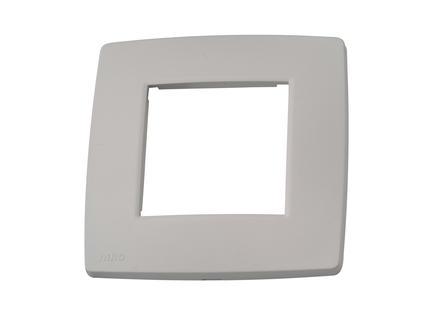 Niko enkelvoudige afdekplaat Original light grey