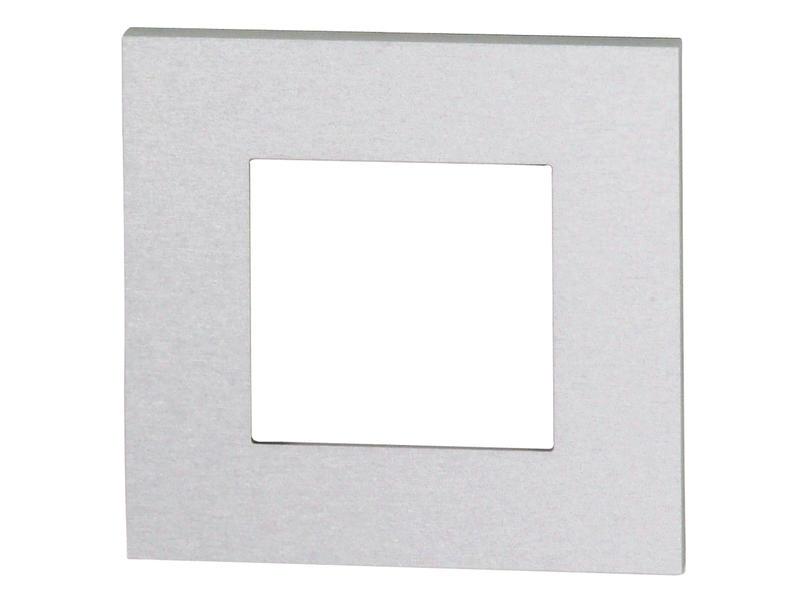 Niko enkelvoudige afdekplaat Pure alu grey