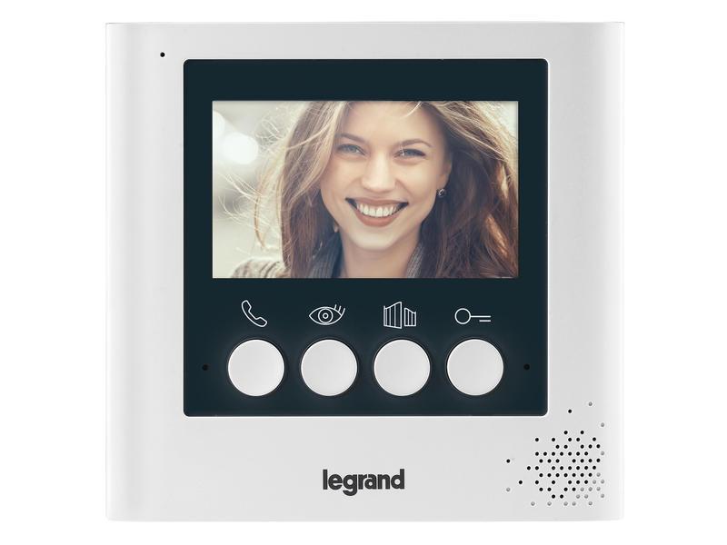 Legrand extra kleurenscherm voor videofoon 2-draads 4,3inch wit