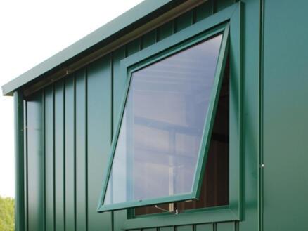 Biohort fenêtre abri de jardin Europa argent métallique
