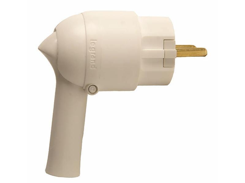 Legrand fiche 16A extraction facilitée blanc