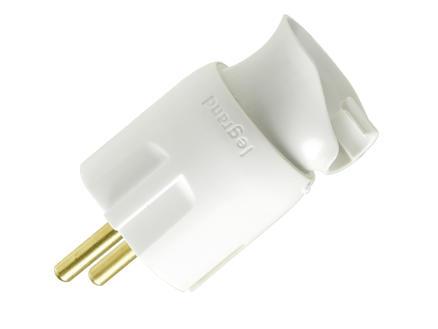 Legrand fiche avec orientation câble 16A blanc
