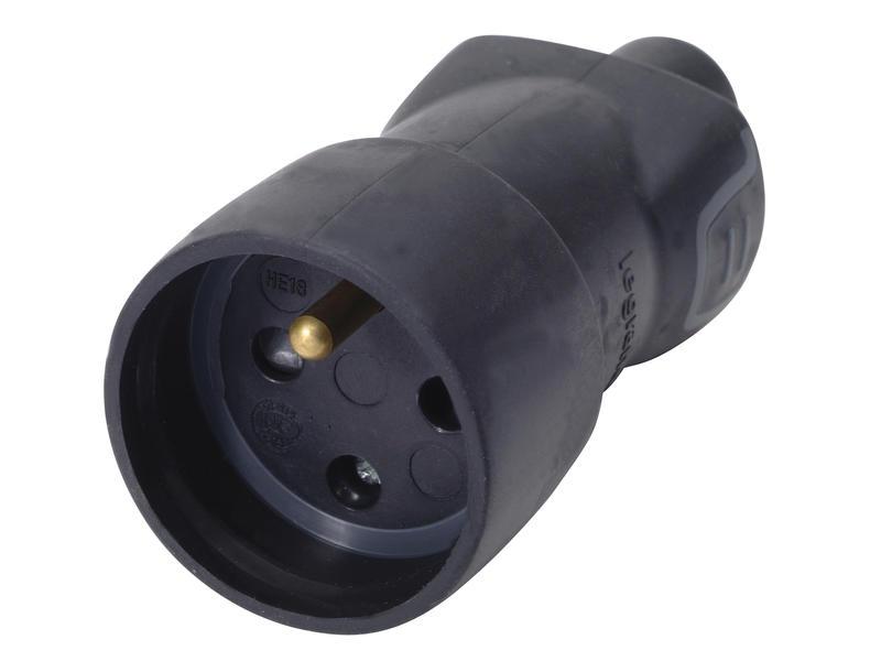 Legrand fiche femelle IP44 2,5A caoutchouc noir