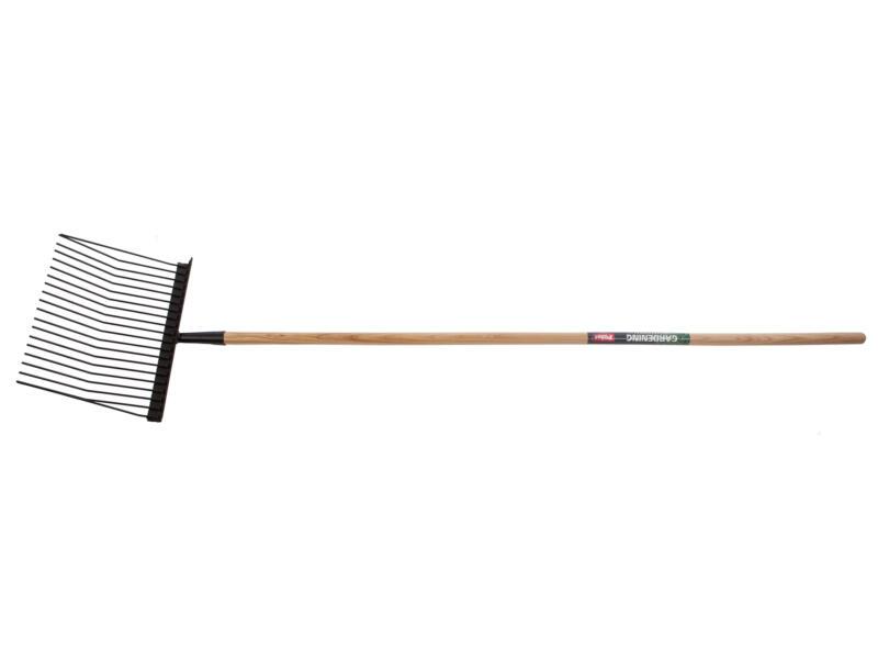 Polet fourche à copeaux 38cm 20 dents + manche 150cm