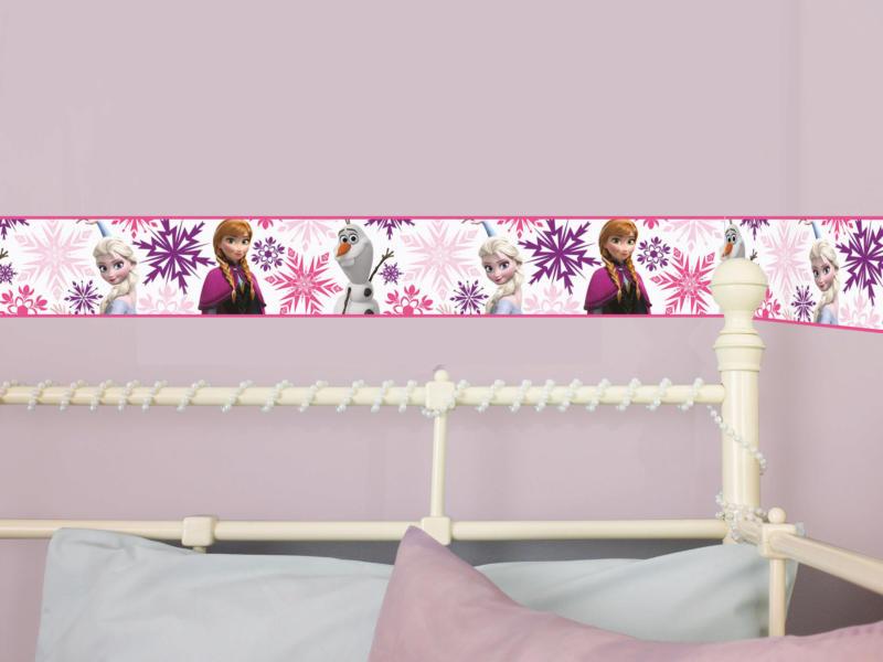 Disney frise adhésif Frozen Anna & Elsa multicolour/blanc