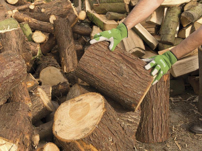 Kreator gants de jardinage M cuir artificiel vert