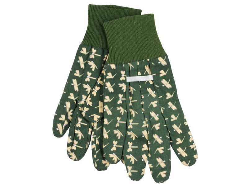 Kreator gants de jardinage S coton vert