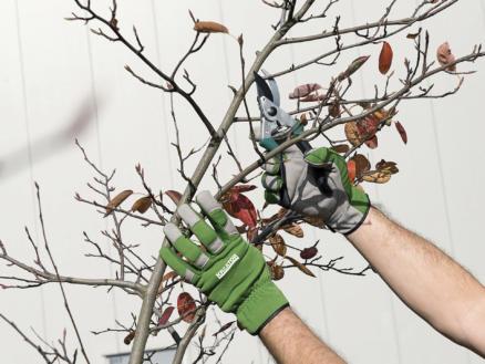 Kreator gants de jardinage XL cuir artificiel vert