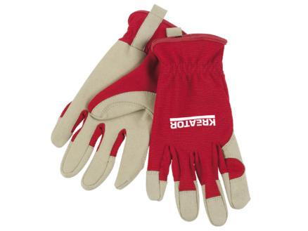 Kreator gants de travail M cuir artificiel rouge