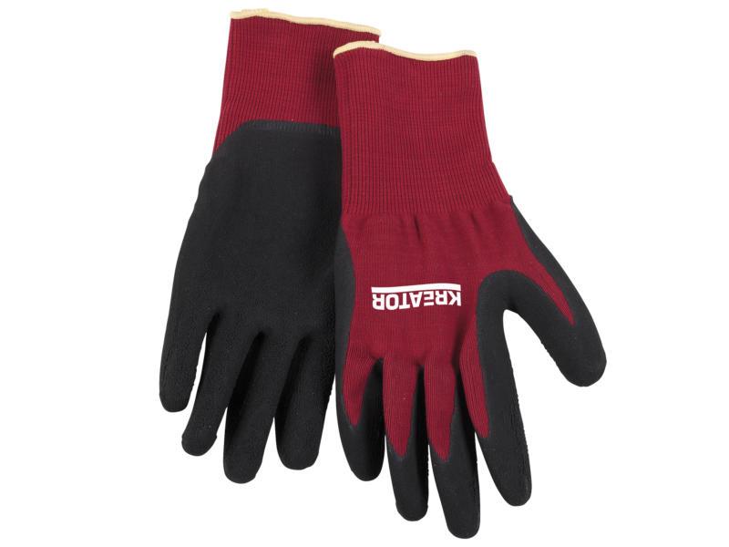 Kreator gants de travail M latex rouge