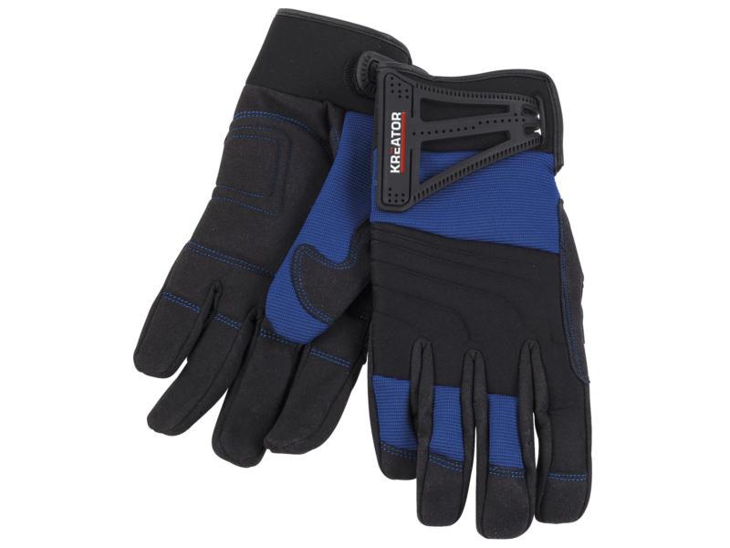Kreator gants de travail XL cuir artificiel bleu