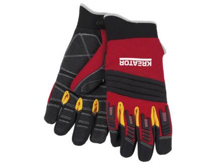 Kreator gants de travail XL cuir artificiel rouge