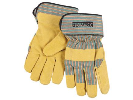 Kreator gants de travail XL cuir jaune et orange