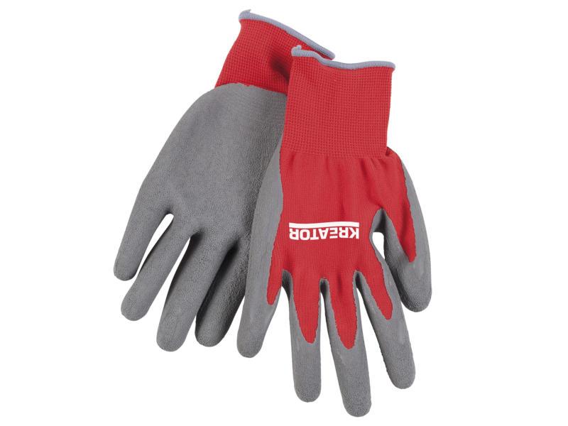 Kreator gants de travail XL latex rouge et gris
