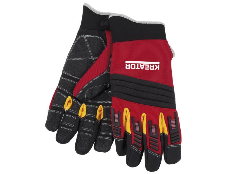 Kreator gants de travail XXL cuir artificiel rouge et noir