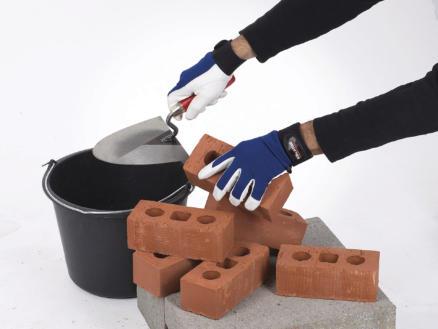 Kreator gants de travail XXL cuir bleu et blanc