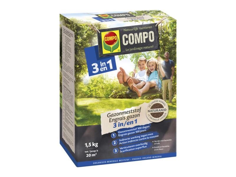 Compo gazonmeststof 3-in-1 1,5kg