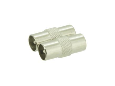 geslachtswisselaar coax M-M metaal 2 stuks