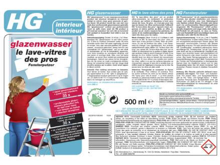 HG glazenwasser 500ml