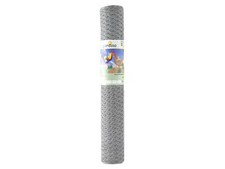 Giardino grillage poule hexagonal 50m x 120cm 25mm galvanisé