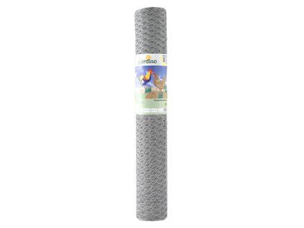 Giardino grillage poule hexagonal 50m x 50cm 16mm galvanisé