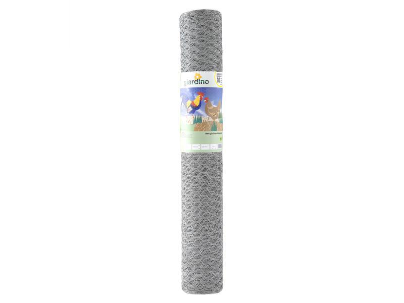 Giardino grillage poule hexagonal 50m x 75cm 25mm galvanisé