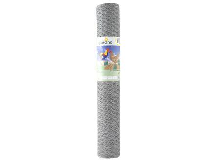 Giardino grillage poule hexagonal galvanisé 5m 50cm 13mm