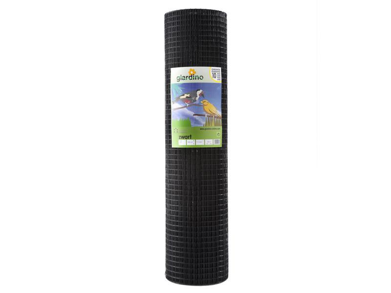 Giardino grillage soudé 25m x 101cm 12,7mm plastifié noir