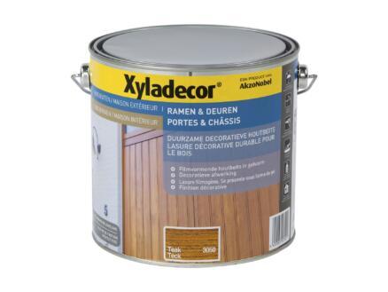 Xyladecor houtbeits ramen & deuren 2,5l teak