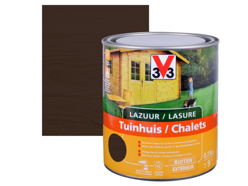 V33 houtbeits tuinhuis zijdeglans 0,75l ebben