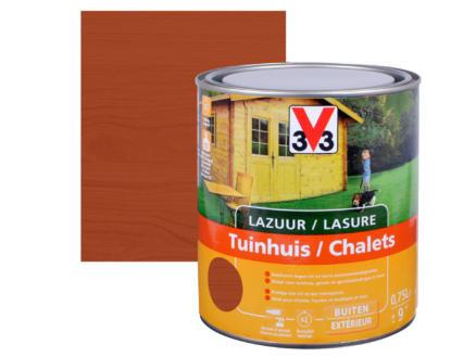 V33 houtbeits tuinhuis zijdeglans 0,75l mahonie