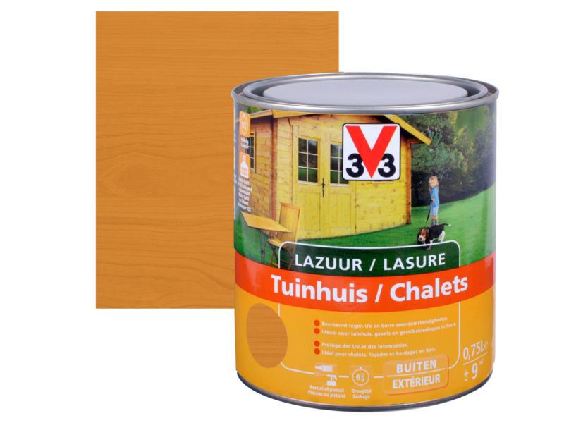 V33 houtbeits tuinhuis zijdeglans 0,75l meranti