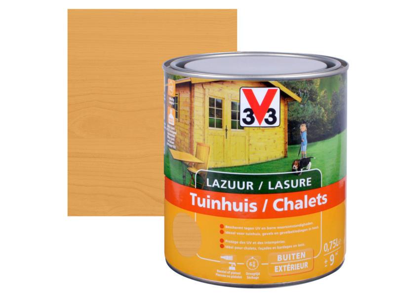 V33 houtbeits tuinhuis zijdeglans 0,75l noorse den