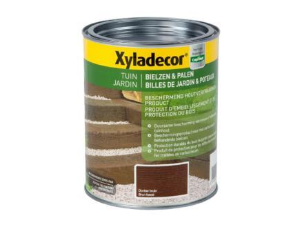 Xyladecor houtbescherming bielzen & palen 1l donkerbruin