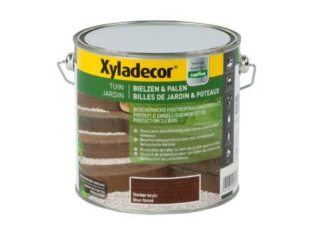 Xyladecor houtbescherming bielzen & palen 2,5l donkerbruin