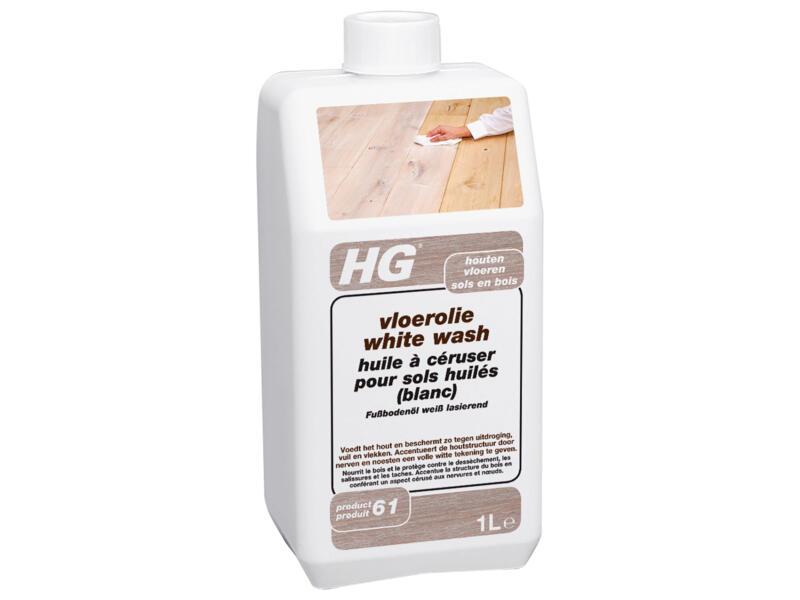 HG huile à céruser sols en bois 1l white wash