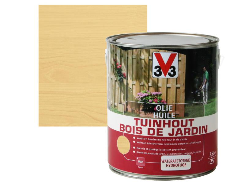 V33 huile bois de jardin mat 2,5l brun clair