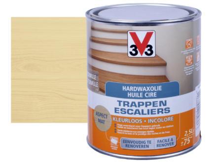 V33 huile cire escaliers mat 2,5l incolore