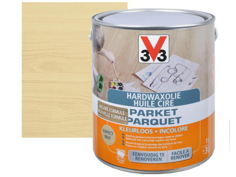 V33 huile cire parquet mat 1l incolore