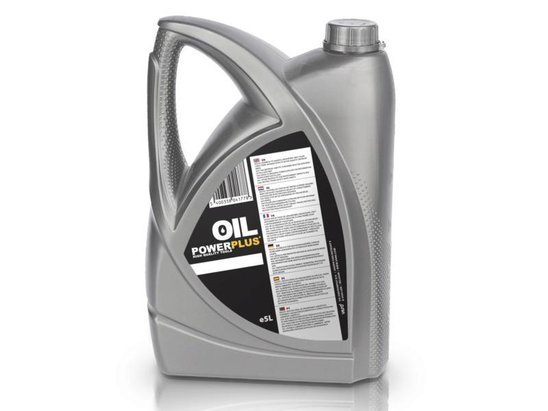 Powerplus huile de chaîne 5l pour tronçonneuse