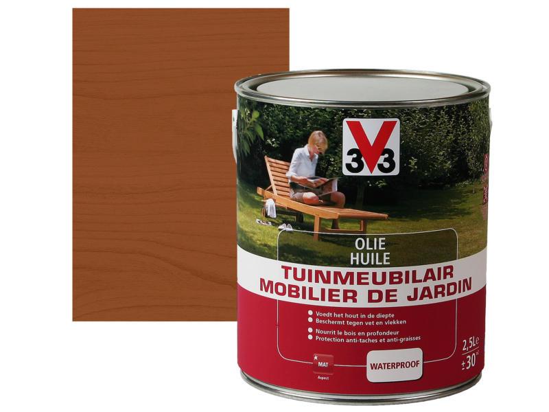 V33 huile meuble de jardin mat 2,5l teck